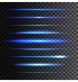 Glowing light lines light glow effect vector image vector image