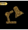 Gold glitter icon of lamp isolated on vector image vector image