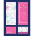gray and pink lineart florals vertical vector image vector image
