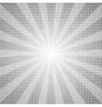 Grey abstract retro beams background vector image vector image