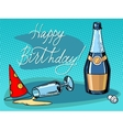 Happy birthday champagne party vector image vector image