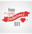 Happy Valentines Day Lettering Card Typographic vector image vector image