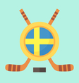 Hockey in Sweden vector image vector image