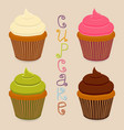 icon logo for whole berry cupcake vector image vector image