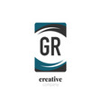 initial letter gr creative abstract logo template vector image vector image