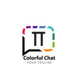 initial letter tt colorful chat creative logo