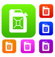 jerrycan set collection vector image vector image