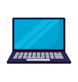 laptop computer on white background vector image vector image