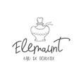 line logo of woman perfume vector image vector image