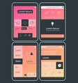 Mobile app ui chart and diagram screens mockup kit