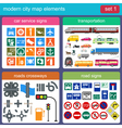 Modern city map elements for generating your own vector image vector image