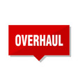 overhaul red tag vector image vector image