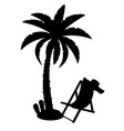palm tree black outline silhouette stock vector image vector image