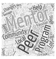 peer mentoring Word Cloud Concept vector image vector image