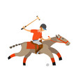 polo player accuracy and precision playing man vector image vector image
