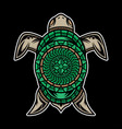 polynesian turtle tattoo design vector image