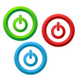 power icons buttons set stock vector image vector image