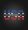 Retro poster american independence day greeting vector image vector image