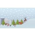 Santa Claus riding sleigh vector image vector image