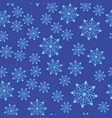 seamless set of stylized snowflakes on blue vector image vector image