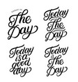 set hand written lettering quotes vector image