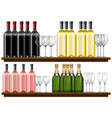 set of different wine vector image
