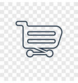 shopping cart concept linear icon isolated on vector image