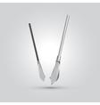 spear ninja weapon cartoon vector image vector image