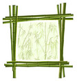 square frame from green bamboo vector image