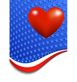 Stars and Stripes Portrait Heart vector image vector image