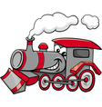 steam engine cartoon character vector image vector image