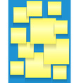 Sticky squares on blue vector image vector image