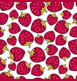 strawberry seamless pattern doodle berry design vector image
