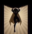 superheroine holding boulder silhouette vector image vector image