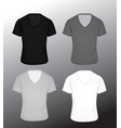 t shirt v neck in four colors vector image vector image