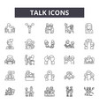 talk line icons signs set linear concept vector image vector image