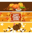 Thanksgiving Day Banner Set vector image vector image