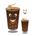 Two cartoon takeaway coffees vector image