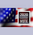 usa presidential election 2020 vector image