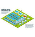 water cleaning factory sewage treatment vector image