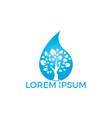 water drop with tree icon logo design vector image