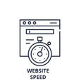 website speed line icon concept website speed vector image vector image