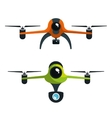 drone two with camera graphic isolated vector image