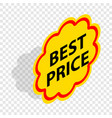 label best price isometric icon vector image