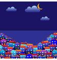 town at night vector image