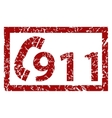 911 emergency grunge icon vector image