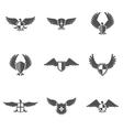 Eagle Icon Shield Set vector image