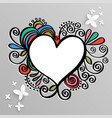 heart frame for wedding and valentine vector image