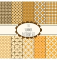 10 summer seamless patterns set vector image vector image