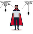 african american man wearing dracula costume vector image